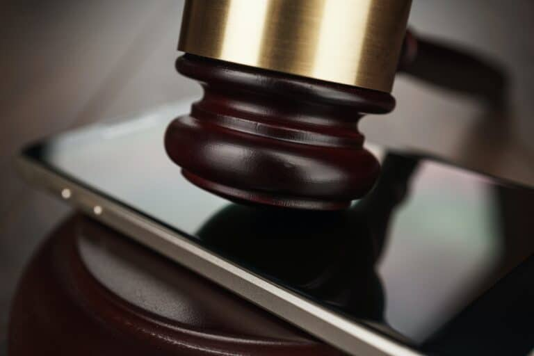 Judge Gavel And Smartphone