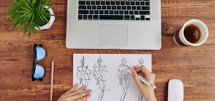 Drawing fashion designer